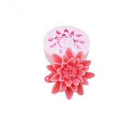 One Hole Flowers Silicone Mold Fondant Molds Sugar Craft Tools Chocolate Mould  For Cakes