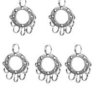 Fura multifunctinal Edelstahl erweitert Schlüsselring mit 8-Ringe - Silber (5 Stück)