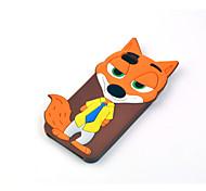 fou ville animal nick fox étui en silicone de bande dessinée pour l'iphone 6 ainsi que, 6s, plus