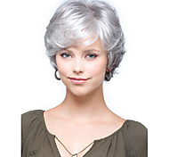 Women lady Short Synthetic Hair Wigs Short Curly Silver Wigs