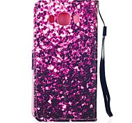 lila Trümmer Muster PU-Leder Material Telefonkasten für Samsung-Galaxie J5 / J510 / G360 / G530