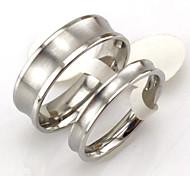 Coppia Anelli per coppie,Gioielli Argento Matrimonio / Feste / Quotidiano / Casual Acciaio al titanio 1 paio,5 / 6 / 7 / 8 / 9 / 10