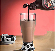 Portable 400ml Electric Automatic Stirring Mug Dairy Cow Pattern Cup for Milk Coffee Juice Tea Cereal