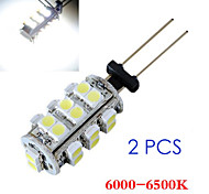 2 in 1 3528 g4 26 smd wit licht auto lamp lamp 6000-6500K (12V)