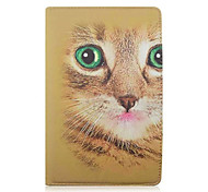 For Samsung Galaxy Case with Stand / Flip / 360° Rotation / Pattern Case Full Body Case Animal PU Leather Samsung Tab E 9.6