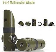 Multitools Multifunção / Sobrevivência / Assobio / Tamanho Compacto Viagem / Exterior / Trilha / Campismo metal Verde Escuro-OEM