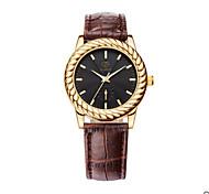 Men's Black Case Brown Leather Band Wrist Dress Watch Jewelry Unisex Cool Watch Unique Watch