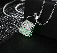 New Magical Glow in the Dark Luminous Lady Handbag Pendant Necklace