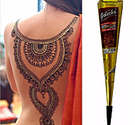 colore nero a base di erbe coni henné temporanea corpo tatuaggio kit di inchiostro arte Hina mehandi (1pcs)
