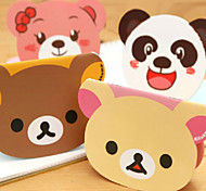 5PCS Creative Cartoon Stationery Notebook Big Face Learning Supplies Students Small Note Book Prize(Style random)