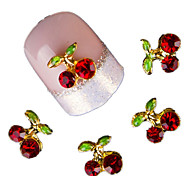 10 Pcs Cherry 3D Art Tools Stones Crystal Rhinestone For Nails Alloy Decorations Nail Art Glitters DIY