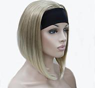 nova 3/4 peruca com reta curta peruca sintética metade headband do feminino para as mulheres 9 cores para escolher