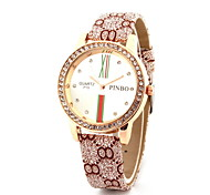 Women's Fashionable  Leisure Trends Temperament Diamond Leather Band Cool Watches Unique Watches