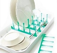 Multi-Drain Dish Rack,Random Color