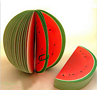 Sticky Fruit Shape Note Pads New Fashion Portable Cute Memo Scratch Paper Notepads Watermelon Write Change Shape