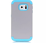 3-In-1 Phone Cases For Samsung Galaxy S6 Edge Hard &Soft Rubber Hybrid Armor Case Cover