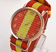 Men's Geneva Striped Watch Cool Watch Unique Watch