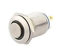 12mm 3V Blue LED Momentary Push Button Metal Switch for Car Silver