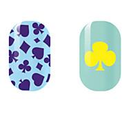 violet / jaune creux ongles autocollants