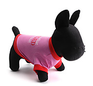 Perros Camiseta Verde / Rosado Ropa para Perro Verano Flores / Botánica Moda