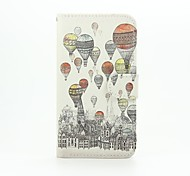 For Wiko Case with Stand / Flip / Pattern Case Full Body Case Balloon Hard PU Leather Wiko