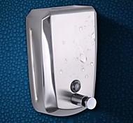 Dispensador de Sabonete Líquido Espelhado De Parede 9.5*6*15cm(3.7*2.36*5.9inch) Aço Inoxidável Contemporâneo