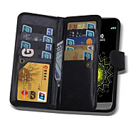 2 in 1 Magnetic 9 Cards Slots Flip Leather Wallet Cover Case For LG G3/G4/G5 (Assorted Colors)