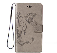 Butterfly Pattern Inside and Outside Printing the Card Holder Lanyard PU Phone Case for Huawei Y560/Y625