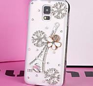 luxo de plástico diamante olhar para trás cobertura para Samsung Galaxy S5