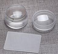 1pc 3.8cm Import transparent das Silikon groß die Dichtung mit Abdeckung + großen Schaber Super kurzen Absatz