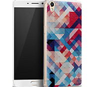 For OPPO Case Pattern Case Back Cover Case Geometric Pattern Soft Silicone OPPO