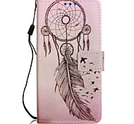Wind Chimes Lovers PU Mobile Phone Holster With Card Slot for LG K7