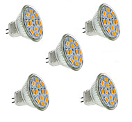 5W GU4(MR11) LED-spotlampen MR11 12 SMD 5730 560 lm Warm wit / Koel wit Decoratief DC 12 V 5 stuks