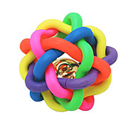 Rubber Multicolor Winding Chew Ball with Bell for Pets Dogs