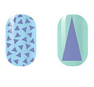 violet / triangle creux ongles autocollants