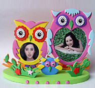 "3""DIY EVA Photo Frame Foam Craft Kits 3D collage sticker child Creative Toy(Random Color)"