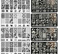 1pc nail art impressão diy de metal placas-bc01-10