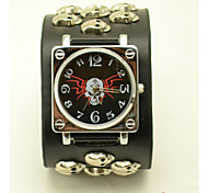 Unisex Fashion Watch Stylish Skull Rivets Cool Hip Black Belt Quartz Watch(Assorted Colors) Cool Watches Unique Watches
