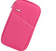Travel WalletForTravel Storage Fabric Black / Blue / Green / Pink / Burgundy / Rose 12*2*25
