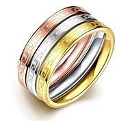 Fashion Novel Unisex's Gold-Plated Titanium Steel Couple Rings(Golden,Rose Gold,Silver)(1Pc)