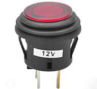 jtron 12v кнопка 20а автомобиля кнопка фиксации переключатель с красный / синий светодиодный индикатор