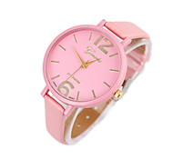 Women's Fashionable Leisure Leather Watch Leather Band