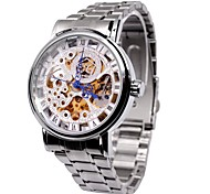 Men's Skeleton Watch Fashion Hollow Steel Automatic Mechanical Watch Roman Scale Watch Cool Watch Unique Watch