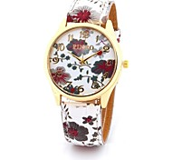Damen Modeuhr Simultan? Diamant Uhr Quartz Leder Band Mehrfarbig 1 # 2 # 3 # 4 #