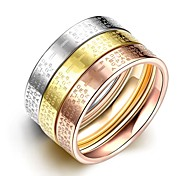 Fashion Original Unisex's  English Alphabets  Gold-Plated Titanium Steel Couple Rings(Golden,Rose Gold,Silver)(1Pc)