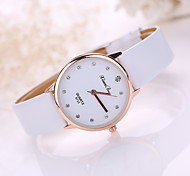 Lady's Leather Band Analog Quartz Fashion Watch Jewelry Cool Watches Unique Watches