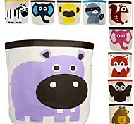 Cartoon Animals Housed Barrels Storage Boxes,Assorted Color