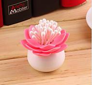 Lotus Toothpicks Holder Cotton Swab Box Chambre Vase Décoration