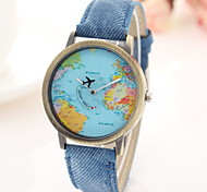 Women's Fashion Watch Casual Watch Quartz Fabric Band Black White Blue Red