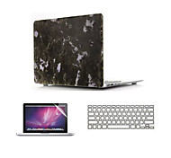 """Marble Design Hard Full Body Case with Keyboard Cover and Screen Protector for Macbook  Air 11""""/13"""""""